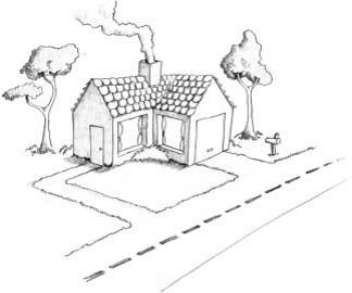 Рисуем дом.провинутый уровень мини
