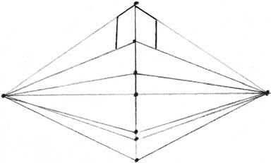 Башня в двухракурсной перспективе п.6