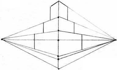 Башня в двухракурсной перспективе п.7