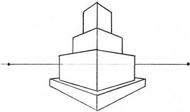 Башня в двухракурсной перспективе п.8