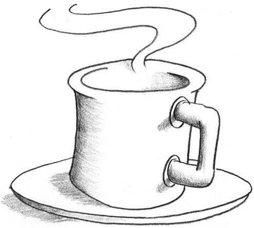 вулканы, кружка кофе мини