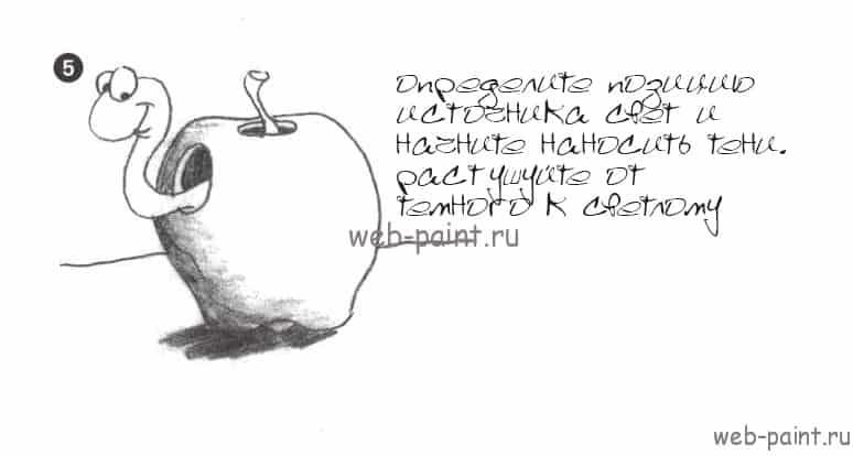 Как нарисовать аппетитное яблочко