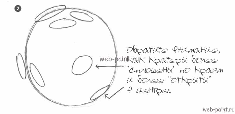 как нарисовать космос2