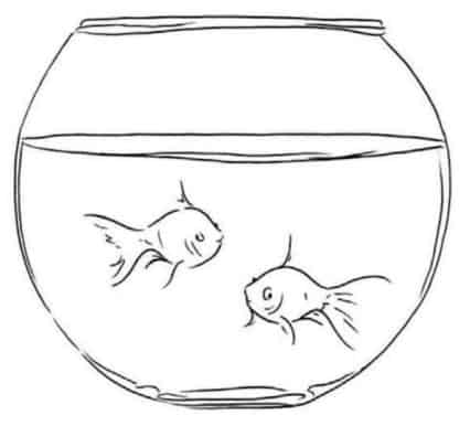 Как-нарисовать-рыбок-в-аквариуме-цветными-карандашами5