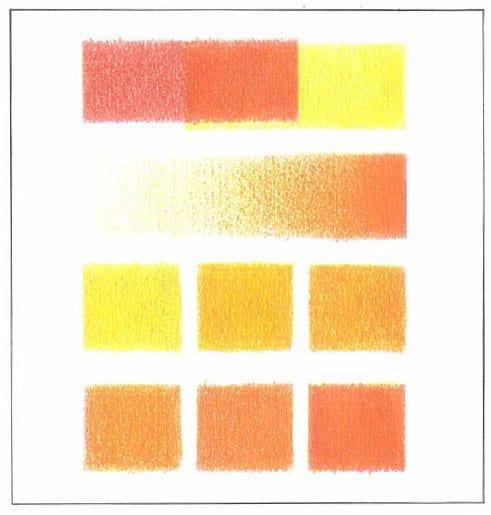 оранжево-красный-ряд