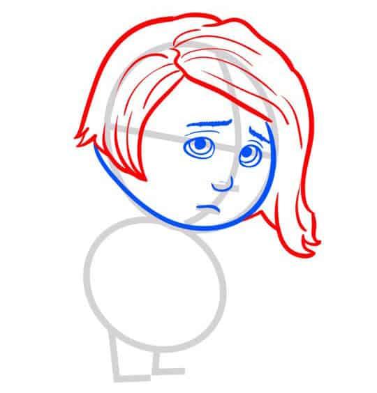 Как нарисовать печаль из мультика «Головоломка»