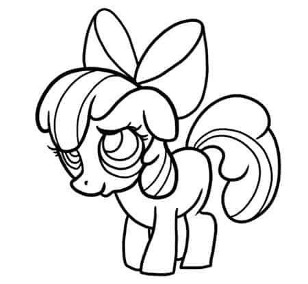 как нарисовать пони дружба это чудо эппл блум6