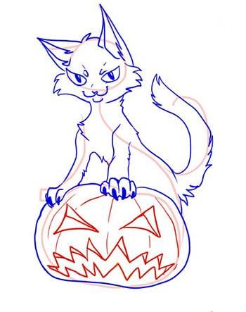 тыква-на-хэллоуин-как-нарисовать-6