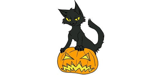 тыква-на-хэллоуин-как-нарисовать
