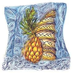 зентангл ананас