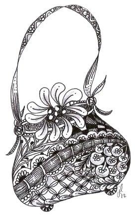 зентангл сумка
