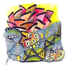 зентангл цветными карандашами