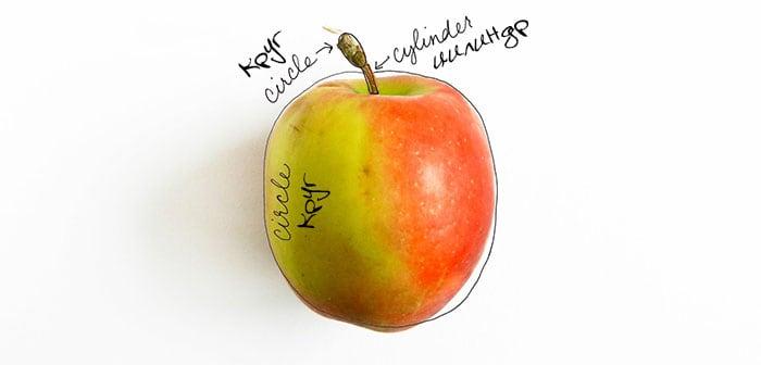 как нарисовать яблоко акварелью (2)