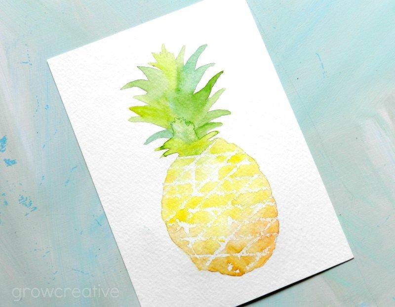 как нарисовать ананас (1)
