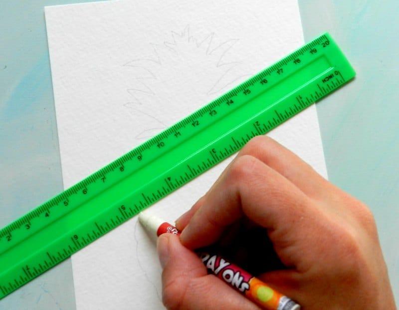 как нарисовать ананас (2)