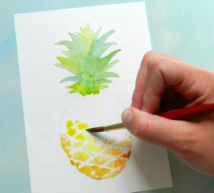 как нарисовать ананас (4)