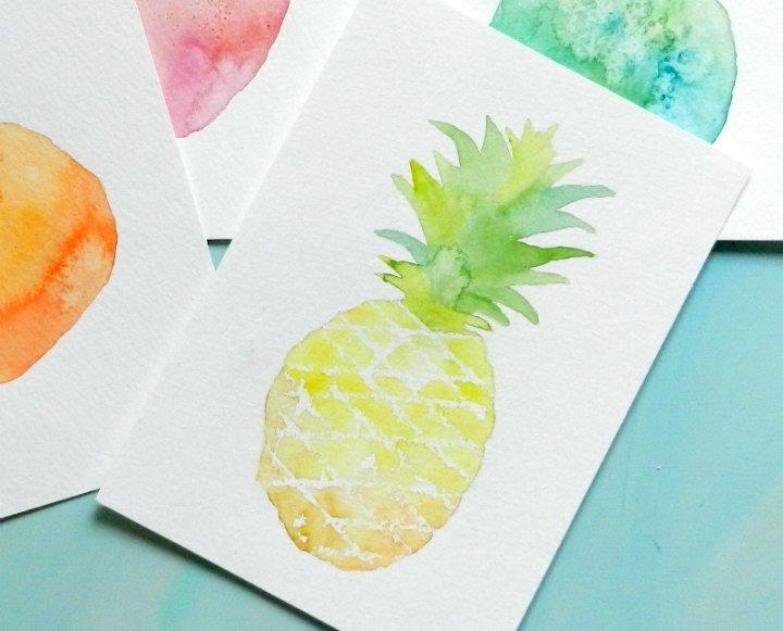 как нарисовать ананас (5)