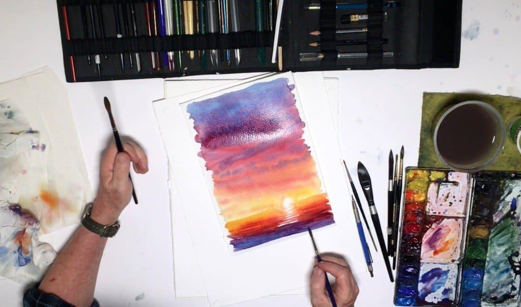 как нарисовать закат (10)