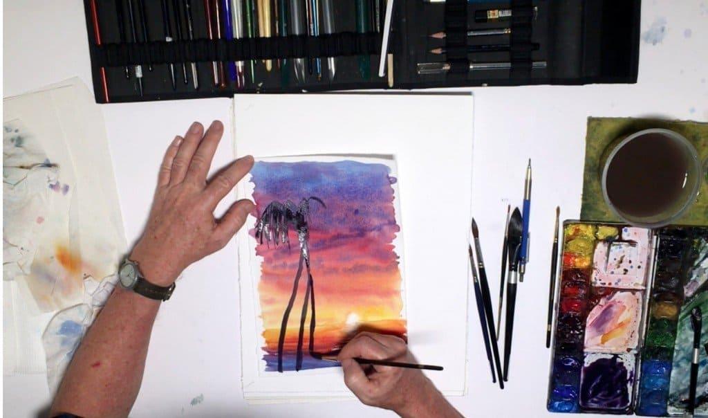 как нарисовать закат (11)
