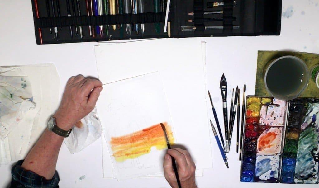 как нарисовать закат (4)