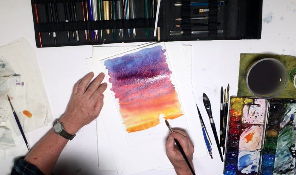 как нарисовать закат (8)