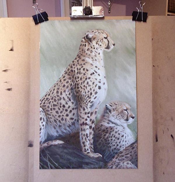 Как рисовать сухой пастелью