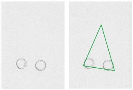 Как нарисовать нос в профиль