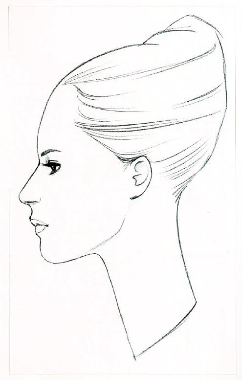Курс fashion-иллюстрации. 3 урок. Fashion портрет в профиль