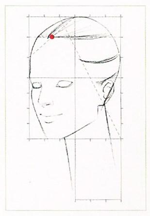 Курс fashion-иллюстрации. 4 урок. Fashion портрет вполоборота