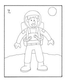 как нарисовать космонавта