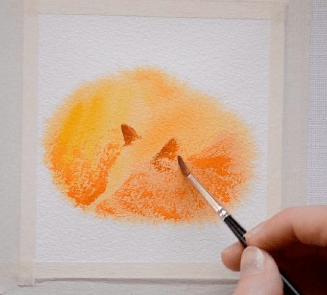 Лисичка для срисовки